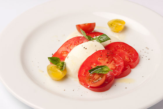 Food photography and styling, Sydney - Heirloom tomato and mozzarella salad